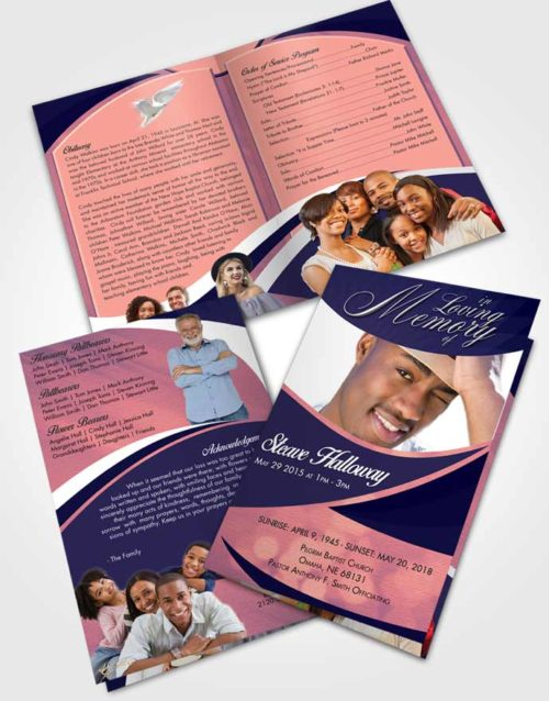 Bifold Order Of Service Obituary Template Brochure Loyal Diligence
