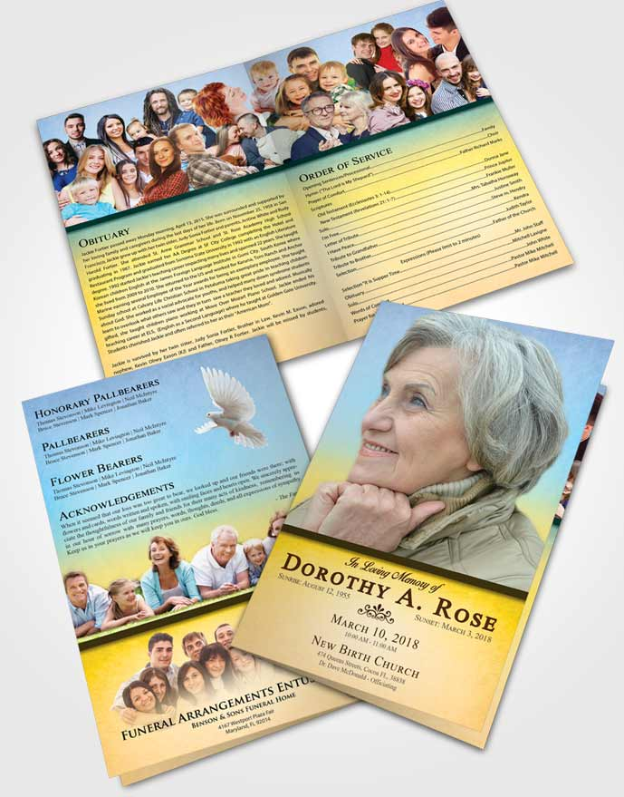 Bifold Order Of Service Obituary Template Brochure Mystical Tolerance