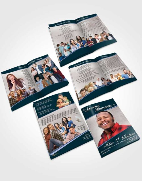 Booklet Memorial Folder Devoted Vitality