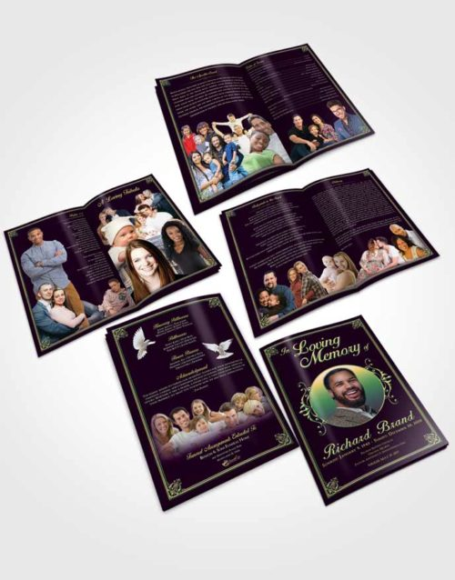 Booklet Memorial Folder Mellow Class Dark