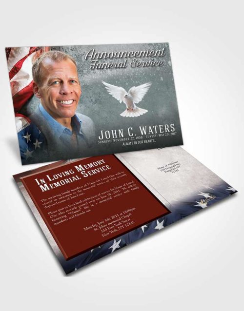 Funeral Announcement Card Template Afternoon Stars and Stripes.jpg