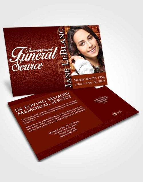 Funeral Announcement Card Template Beautiful Passion