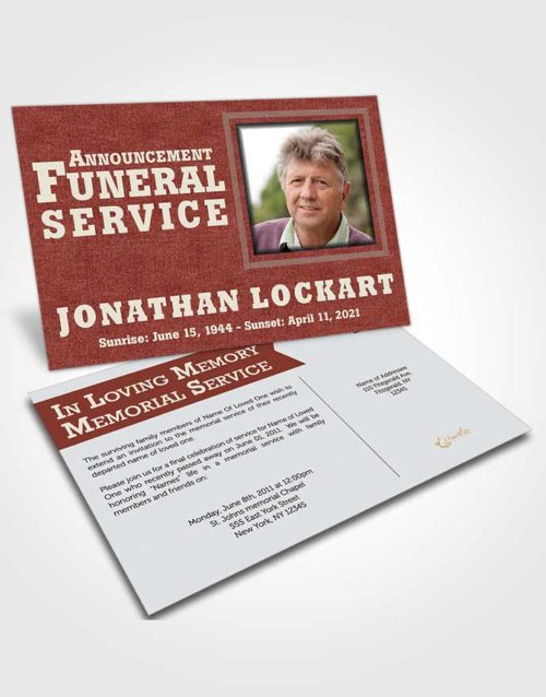 Funeral Announcement Card Template Brilliant Intensity