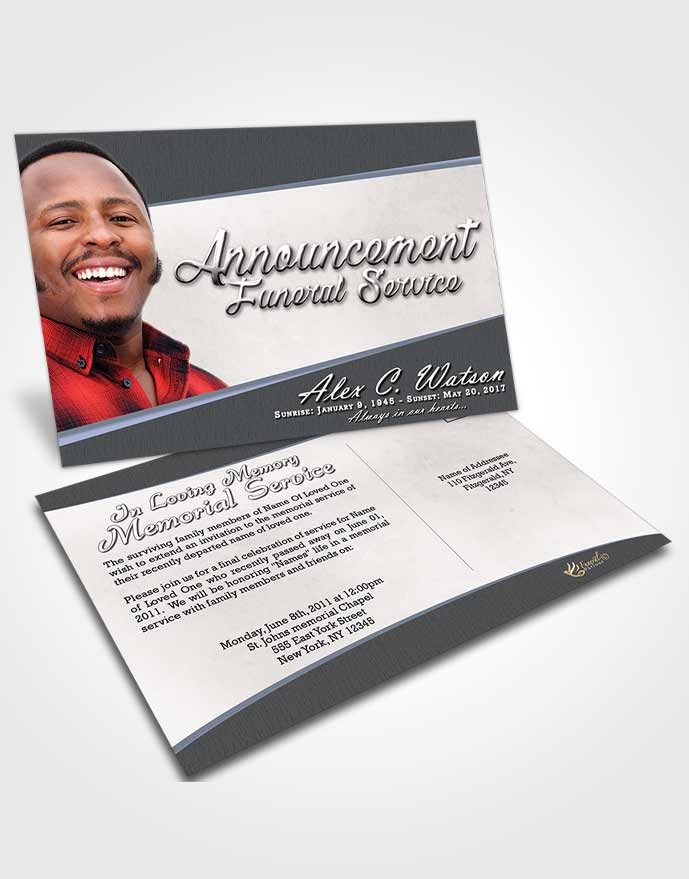 Funeral Announcement Card Template Collected Vitality