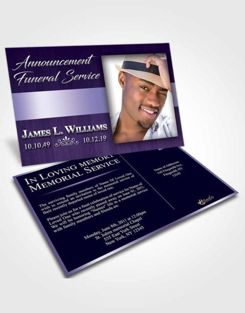 Funeral Announcement Card Template Diamond Force