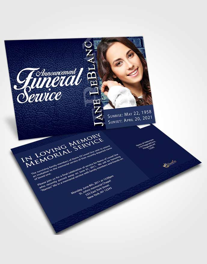 Funeral Announcement Card Template Divine Passion