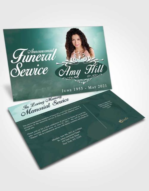 Funeral Announcement Card Template Gentle Sympathy