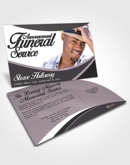 Funeral Announcement Card Template Lustful Diligence