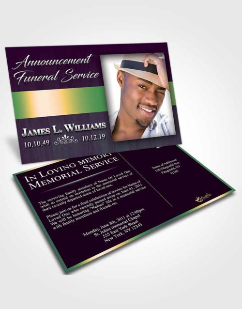 Funeral Announcement Card Template Mellow Force