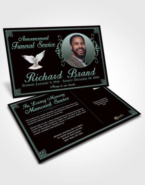 Funeral Announcement Card Template Morning Class Dark