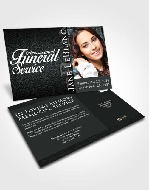 Funeral Announcement Card Template Paramount Passion