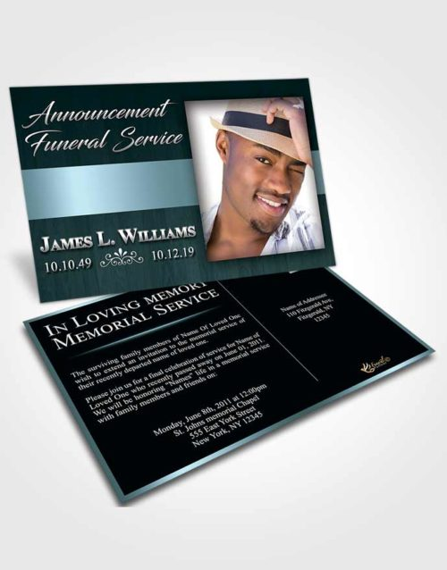 Funeral Announcement Card Template Peaceful Force