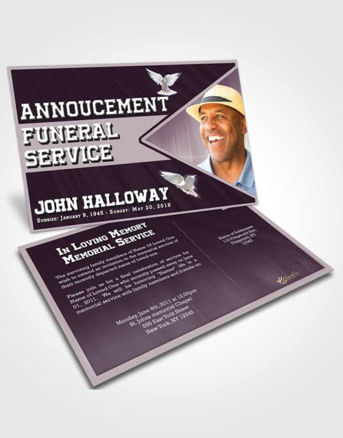 Funeral Announcement Card Template Remarkable Vigor