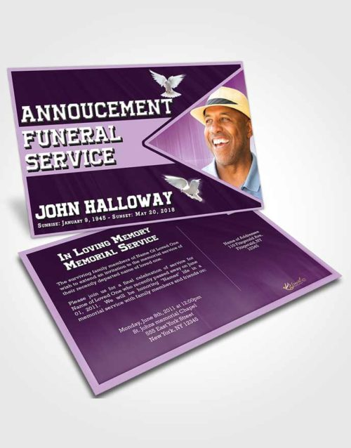 Funeral Announcement Card Template Soothing Vigor