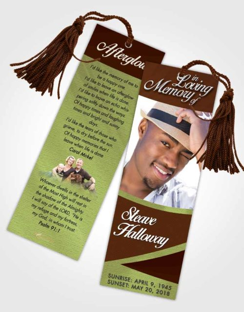 Funeral Bookmark Template Composed Diligence