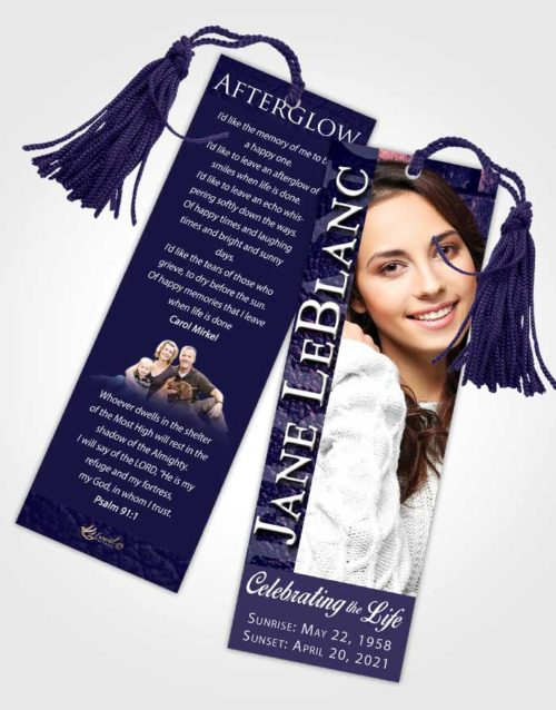 Funeral Bookmark Template Loyal Passion