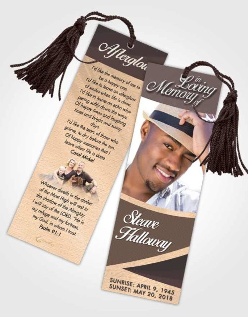 Funeral Bookmark Template Mystical Diligence