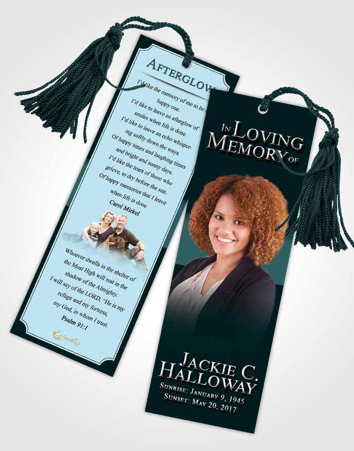 Funeral Bookmark Template Peaceful Nobility