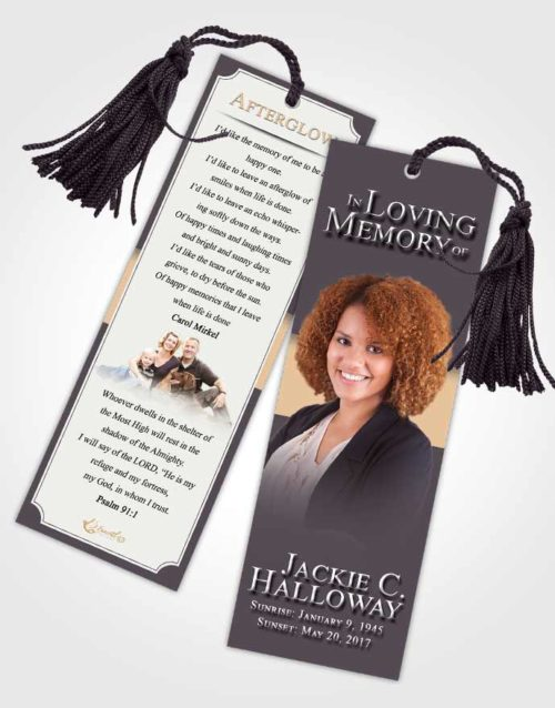 Funeral Bookmark Template Quiet Nobility