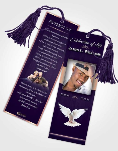 Funeral Bookmark Template Smooth Force