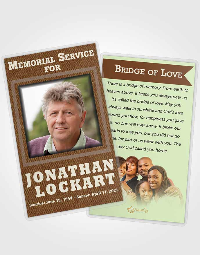 Funeral Prayer Card Template Composed Intensity