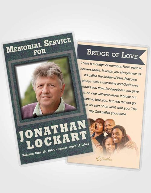Funeral Prayer Card Template Mellow Intensity