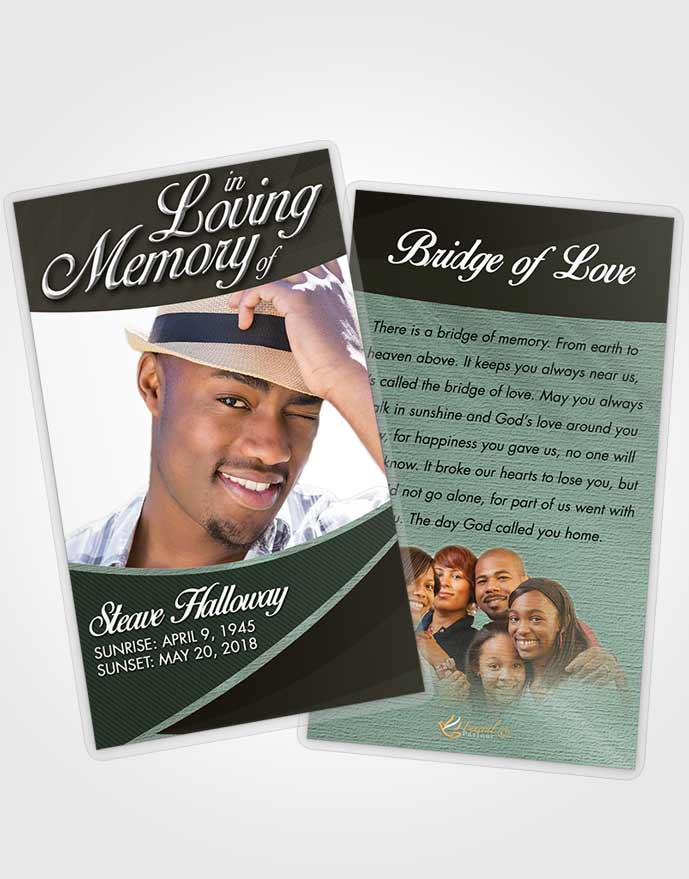 Funeral Prayer Card Template Morning Diligence