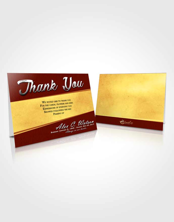 Funeral Thank You Card Template Beautiful Vitality