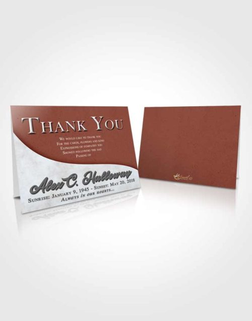 Funeral Thank You Card Template Brilliant Peace of Mind