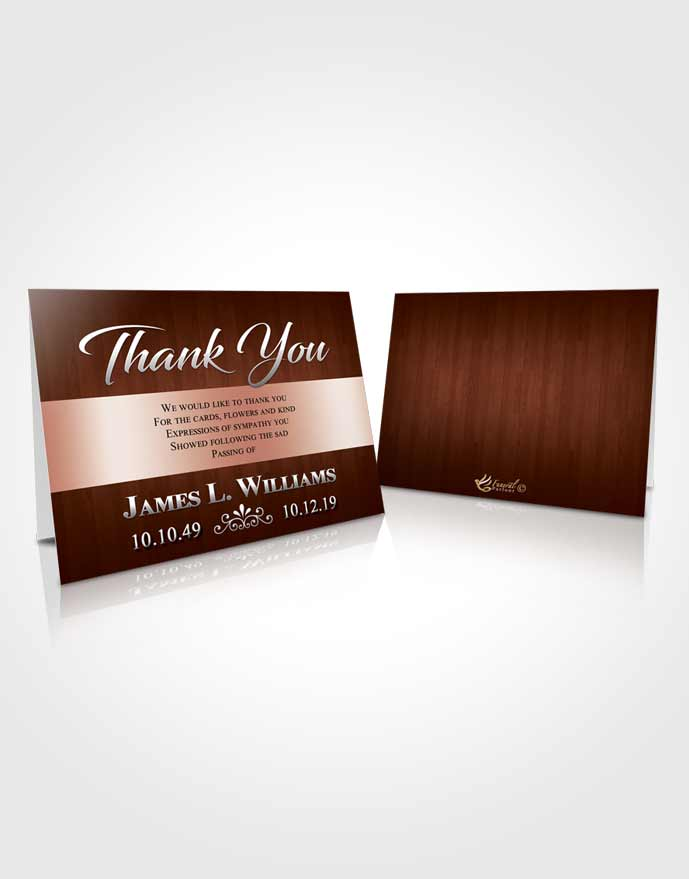 Funeral Thank You Card Template Calm Force