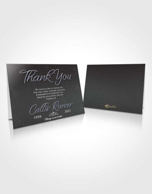 Funeral Thank You Card Template Collected Desire