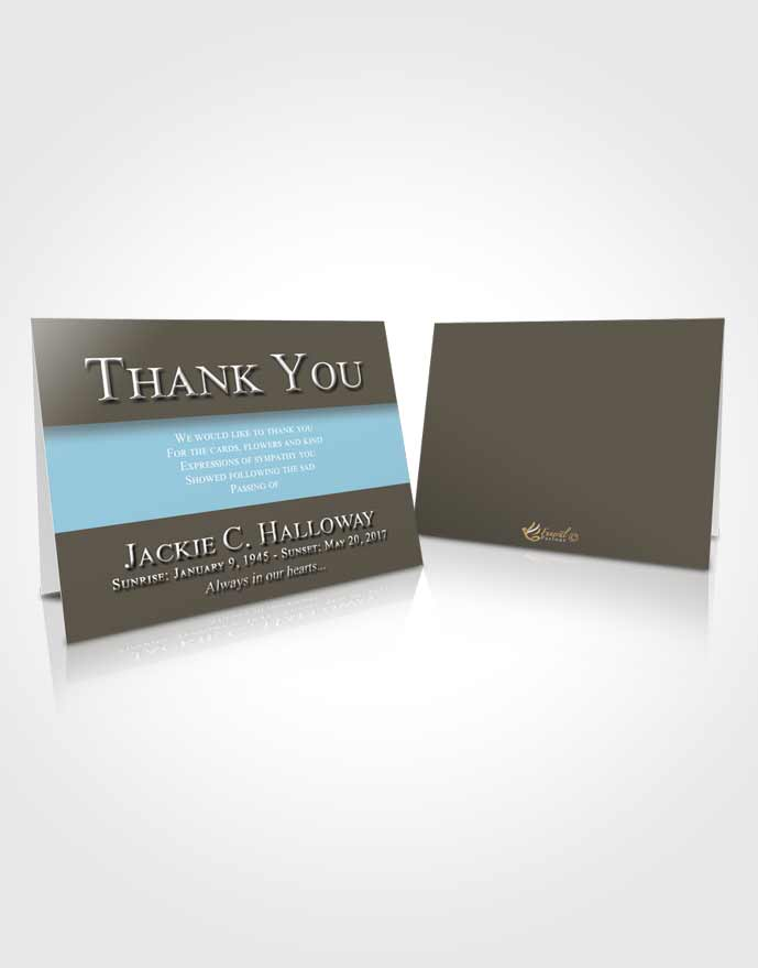 Funeral Thank You Card Template Collected Nobility