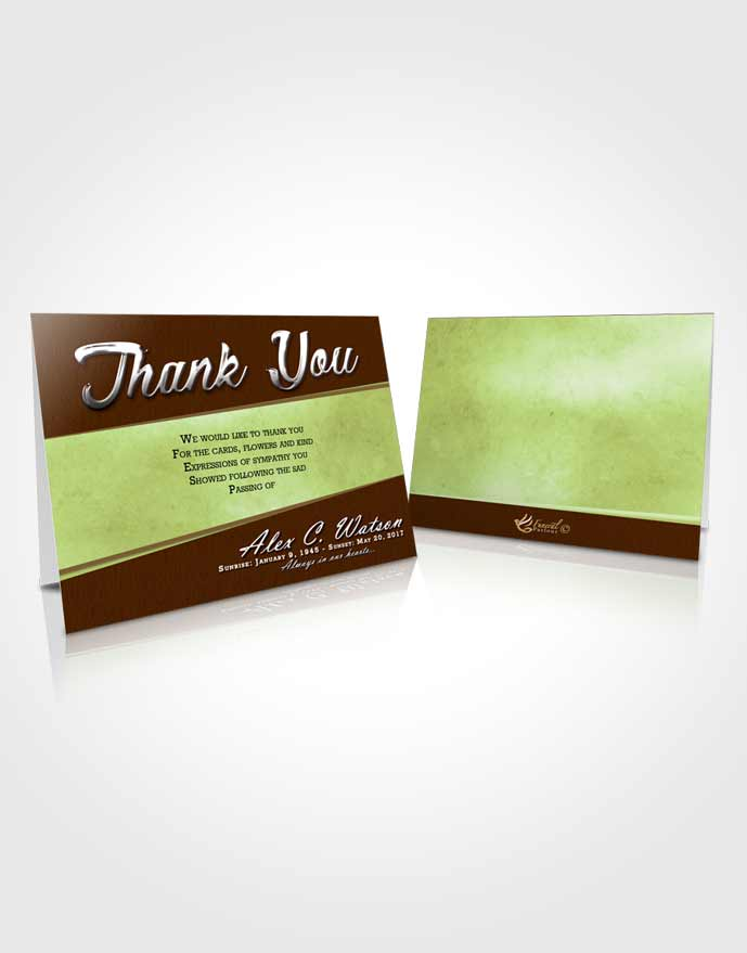 Funeral Thank You Card Template Composed Vitality