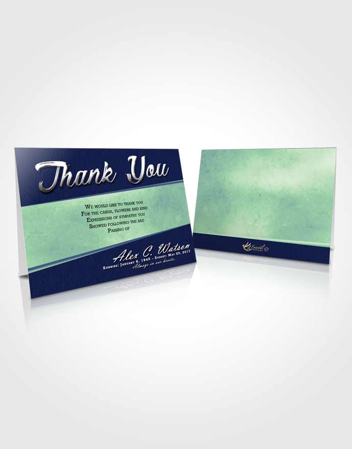 Funeral Thank You Card Template Divine Vitality