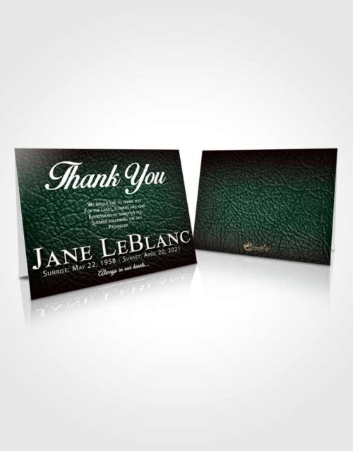 Funeral Thank You Card Template Electrifying Passion