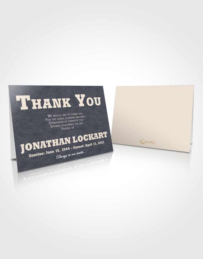 Funeral Thank You Card Template Gentle Intensity
