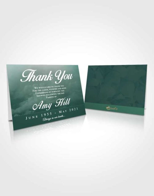 Funeral Thank You Card Template Gentle Sympathy