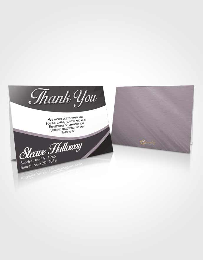 Funeral Thank You Card Template Lustful Diligence
