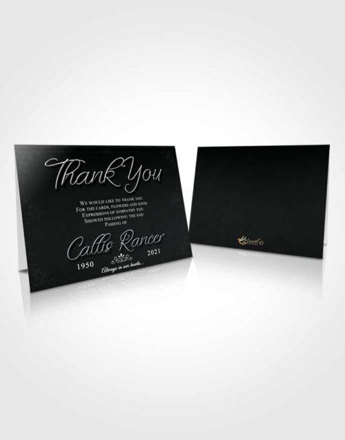 Funeral Thank You Card Template Majestic Desire