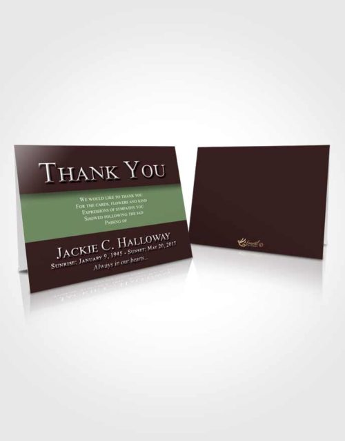 Funeral Thank You Card Template Morning Nobility