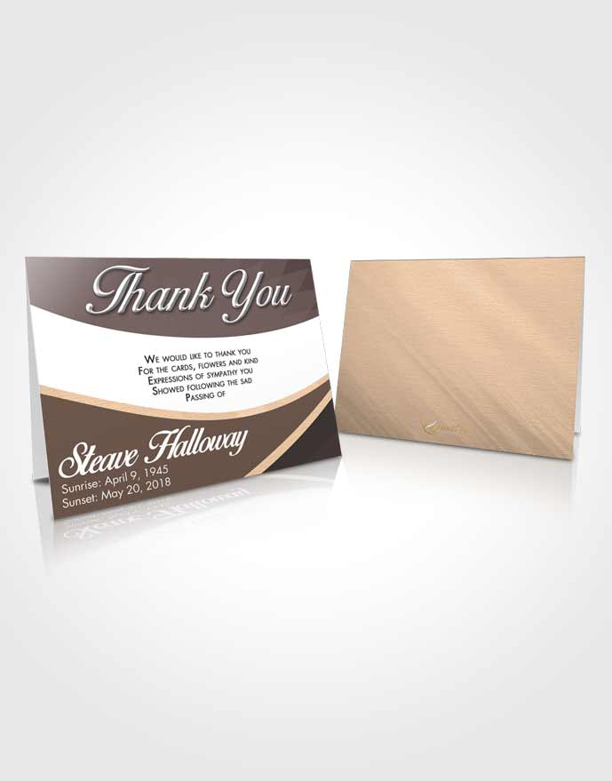 Funeral Thank You Card Template Mystical Diligence