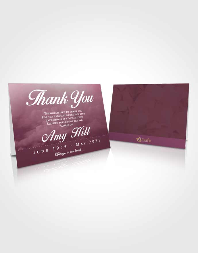 Funeral Thank You Card Template Ocean Sympathy