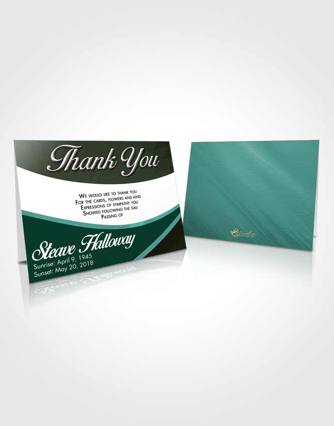 Funeral Thank You Card Template Passionate Diligence