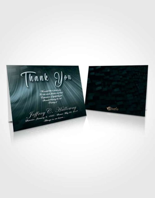 Funeral Thank You Card Template Restful Strength