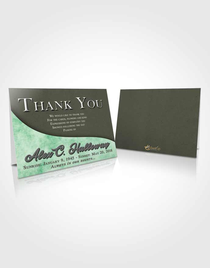 Funeral Thank You Card Template Serene Peace of Mind