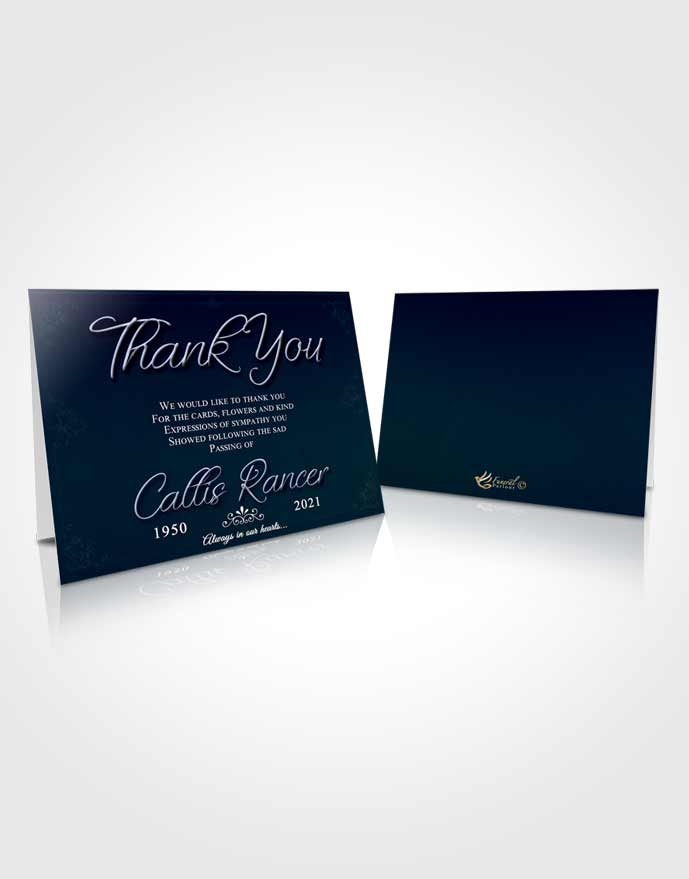 Funeral Thank You Card Template Splendid Desire