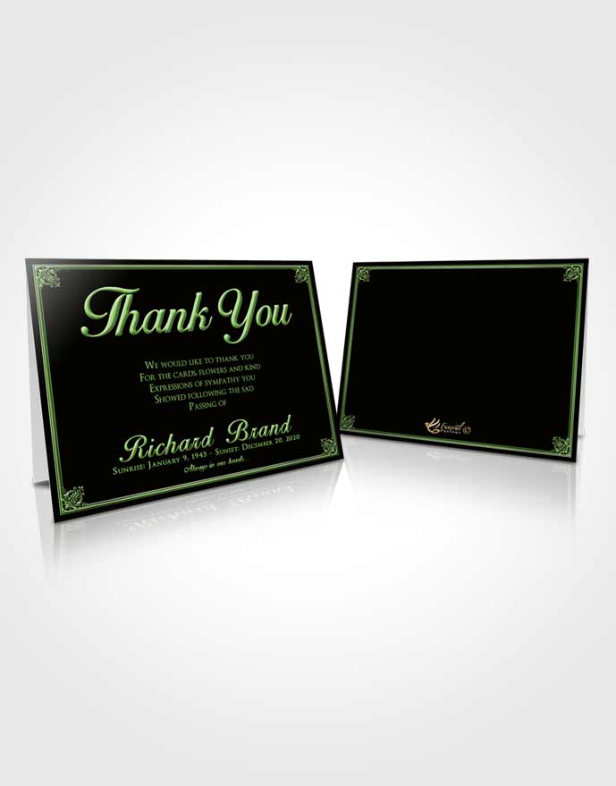 Funeral Thank You Card Template Spring Class Dark