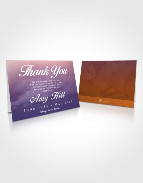 Funeral Thank You Card Template Steady Sympathy