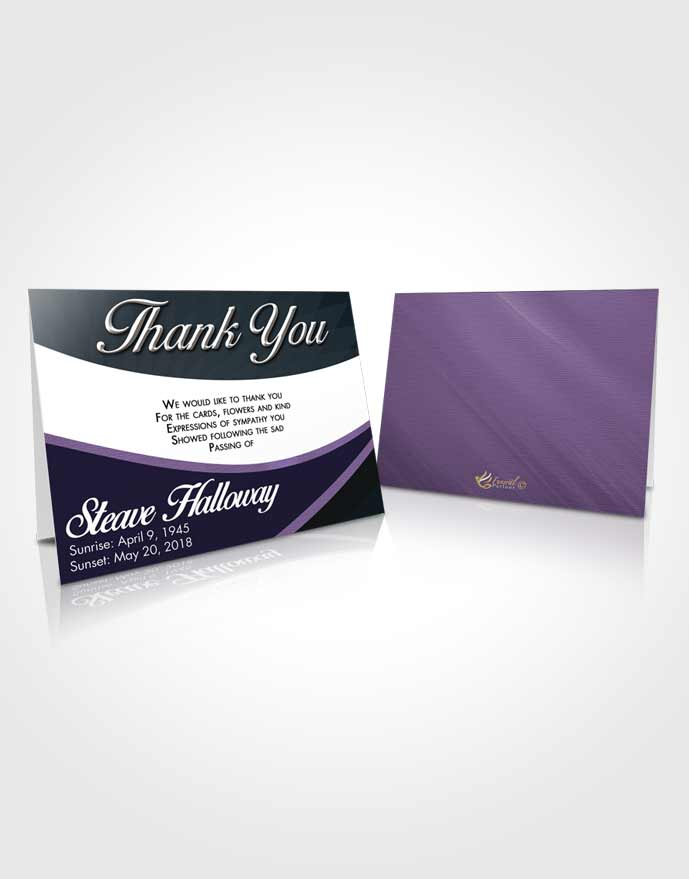 Funeral Thank You Card Template Tranquil Diligence