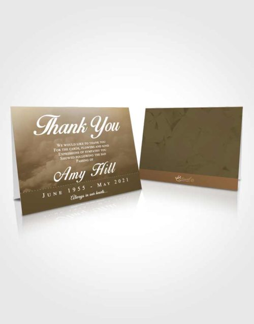 Funeral Thank You Card Template Tranquil Sympathy